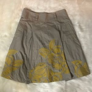 Anthropologie Floreat Longwood Floral Skirt